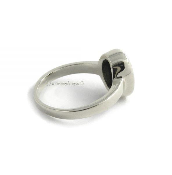 Zilveren dameszegelring Zilver zegelring 11x9 mm 1012 ...
