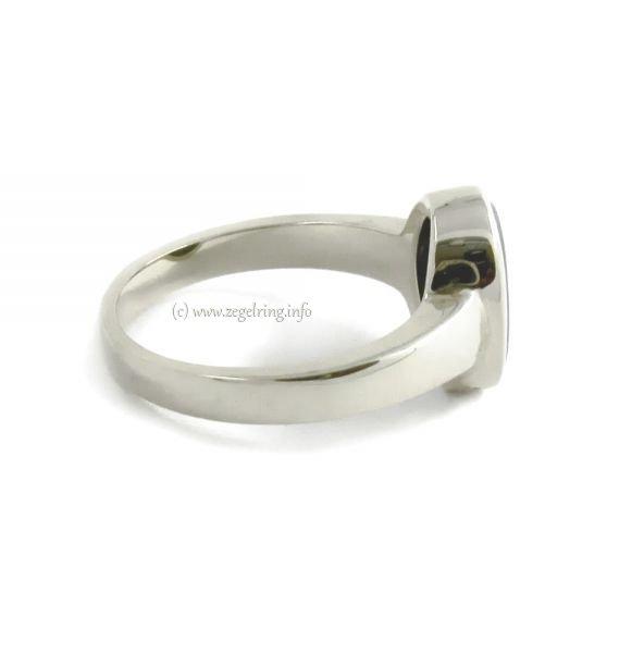 Zilveren dameszegelring Zilver zegelring 10x8 mm 25255 ...